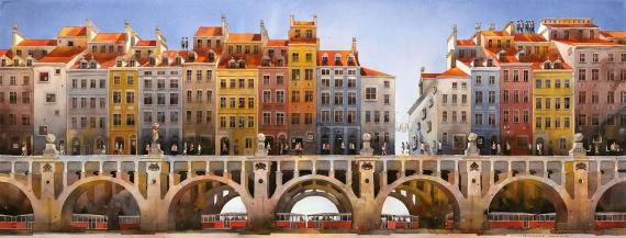 Tytus Brzozowski - Häuser auf der Brücke