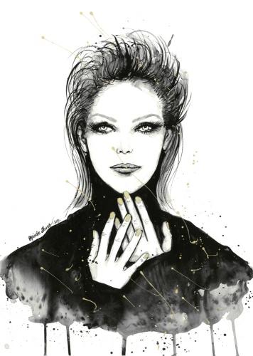 Agnieszka Nawrat - Black turtleneck