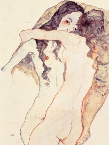 Przytulające się kobiety, Egon Schiele