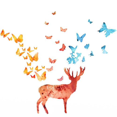 Chintami Ricci - Deer and Butterflies