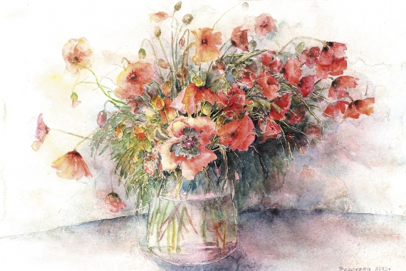 Bożena Czerska - Poppies bouquet
