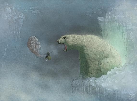 Marcin Minor - The tiny travelers - polar bear
