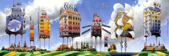 Tytus Brzozowski - Wind powered houses