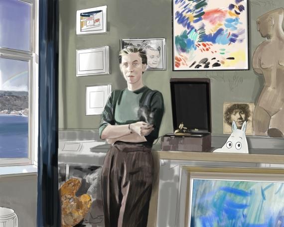 Laura La Wasilewska - The Return of Spring, portrait Tove Jansson