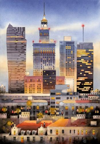 Tytus Brzozowski - Evening in Warsaw.
