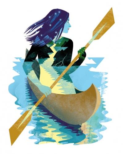 Katarzyna Bogdańska - Canoe (portrait of Kasia)