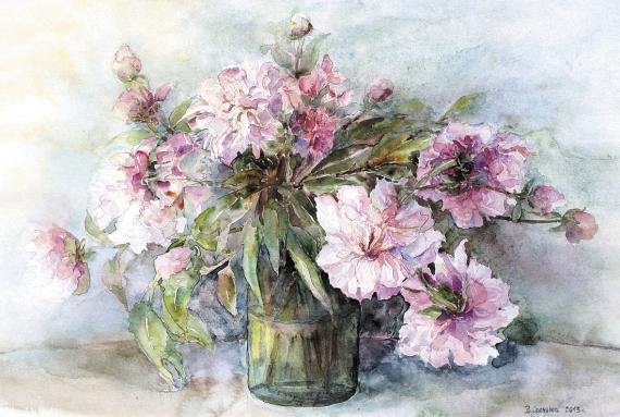 Bożena Czerska - Peonies in a vase