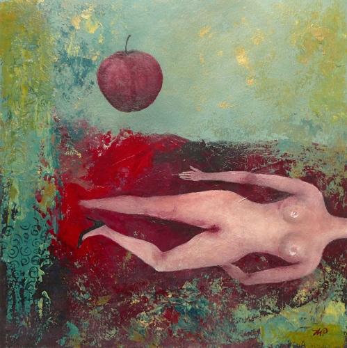 Anna Wojciechowska-Paprocka - Akt z jabłkiem