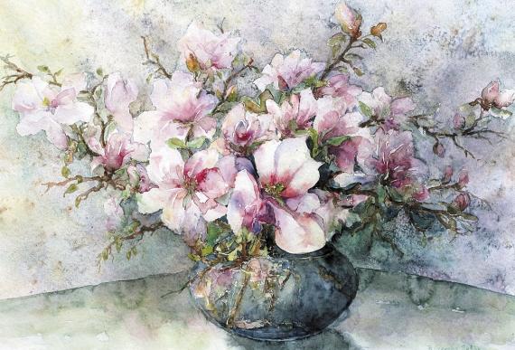 Bożena Czerska - Magnolias in a vase