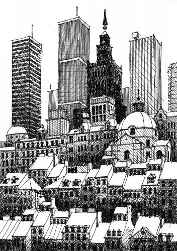 Tytus Brzozowski - Rysunek Przyszłe Wieżowce