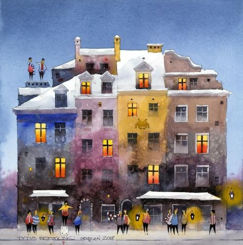 Tytus Brzozowski - Winter Castle Square