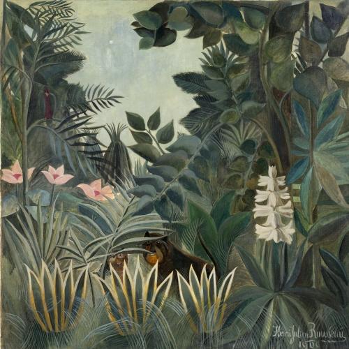 Equatorial jungle,  Henri Rousseau