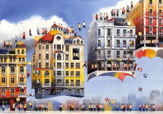 Tytus Brzozowski - Abfliegende Häuser.