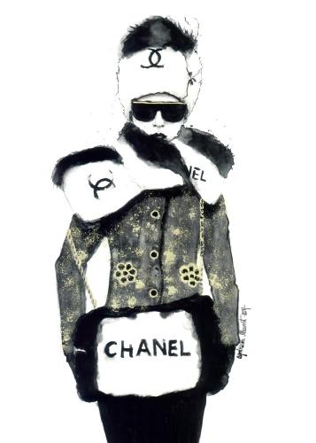 Agnieszka Nawrat - Chanel bag b&w