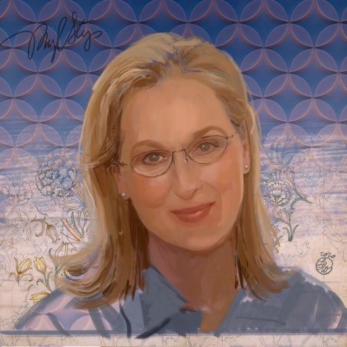Laura La Wasilewska - Portrait Meryl Streep