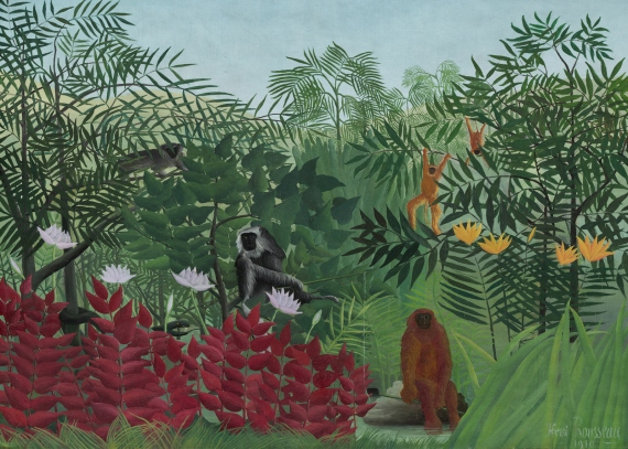 Tropical Forest with Monkeys, Henri Rousseau