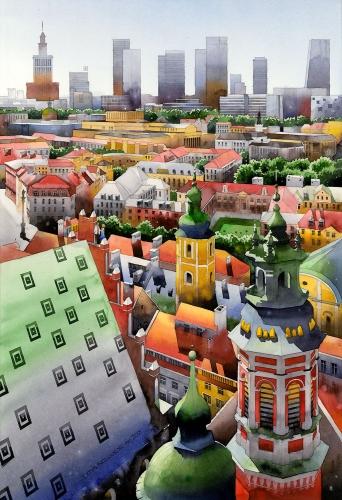 Tytus Brzozowski - Ein Blick von der Spitze der Kathedrale