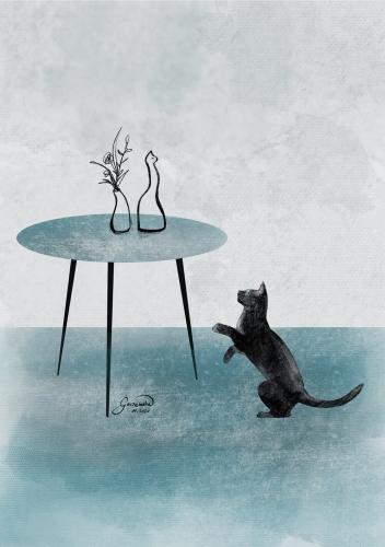 Małgorzata Goczewska - Two Cats