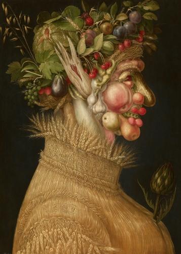 Summer, allegorical portrait, Giuseppe Arcimboldo