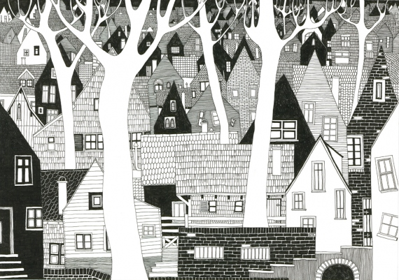 Joanna Nykiel - Weiße Bäume