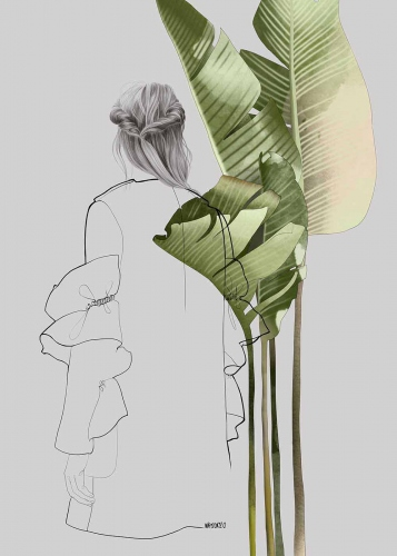 Agata Wierzbicka - Fashion Illustration - Banana Leaves