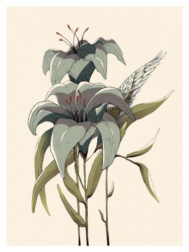 Małgorzata Wysocka-Kibart - Taglilie Blume / Mut