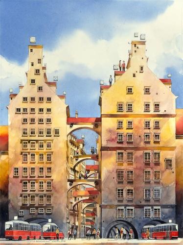 Tytus Brzozowski - Houses on arcades