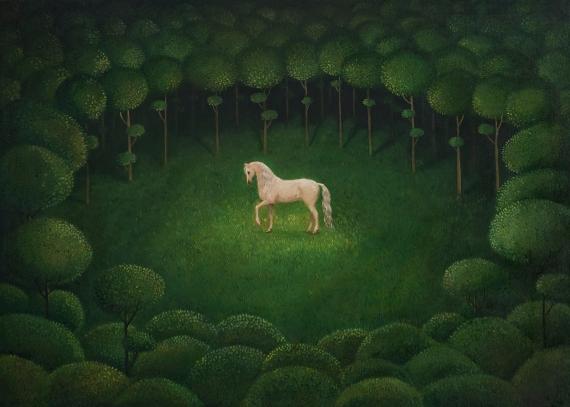 Malwina de Brade -  weißes Pferd