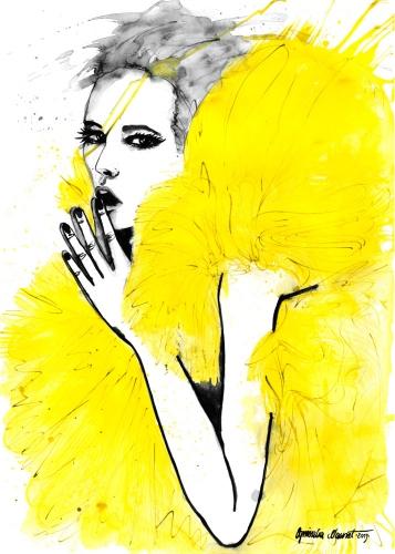 Agnieszka Nawrat - Yellow tulle