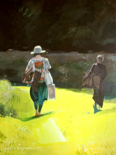 Laura La Wasilewska - Yellow shadow wandering