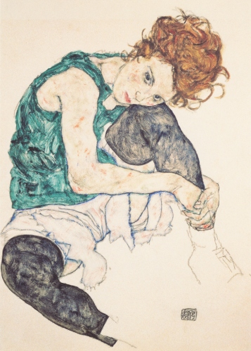 Egon Schiele: Seated Woman with Bent Knee