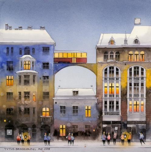 Tytus Brzozowski - Downtown buildings