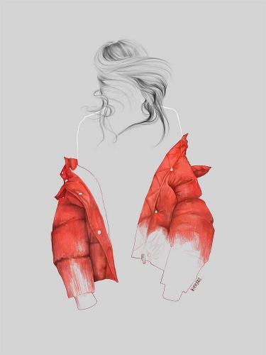 Agata Wierzbicka - Street Fashion - Red Coat