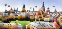 Panorama Lublina z farą - Tytus Brzozowski
