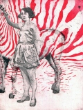 Girl with a zebra - Ola Lis