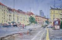 Przystanek w deszczu - Janusz Dziurawiec
