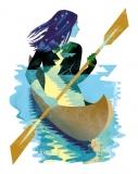Canoe (portrait of Kasia) - Katarzyna Bogdańska