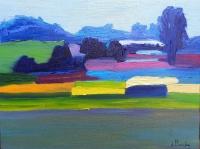 Landscape with orange - Anna Brzeska