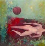 Nude with apple - Anna Wojciechowska-Paprocka