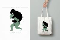 Bawełniana torba z grafiką  - Dorota  Kraft