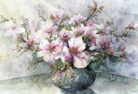 Magnolias in a vase - Bożena Czerska
