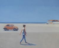 Girl, car and sea - Andrzej Tuźnik