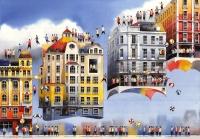 Abfliegende Häuser. - Tytus Brzozowski