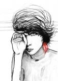 Red earring - Agnieszka Nawrat