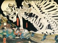 Szkielet, Utagawa Kuniyoshi