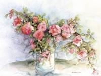 Gałązki różane w wazonie - Bożena Czerska