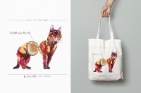 Cotton bag 'The oldest cat' - Monika Wyłoga