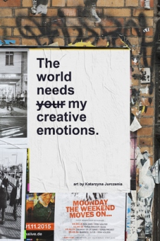 "Wystawa Katarzyny Jurczenia ""The world needs your/my creative emotions."""