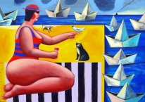 'Malowidła' czyli obrazki z życia bab plażowych i kotów szwendaczy Jacka Frąckiewicza
