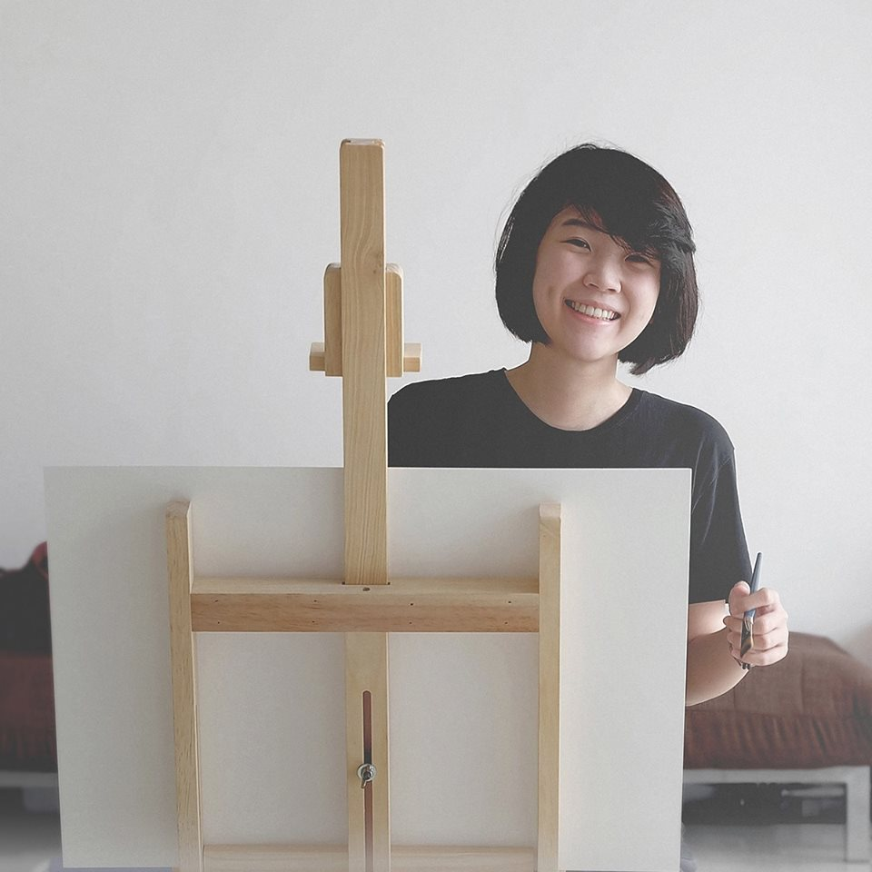 Elicia Edijanto, working